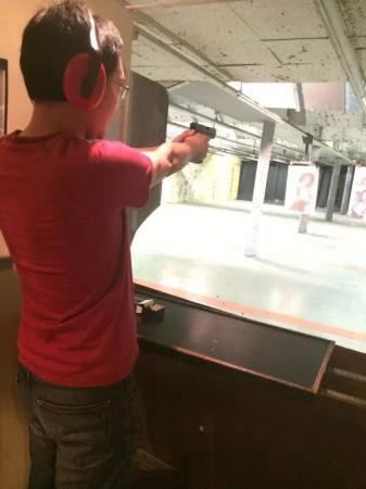 practice at shootin range
